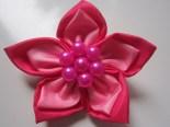 Bros Kain Cantik Bunga Rara Merah Maroon