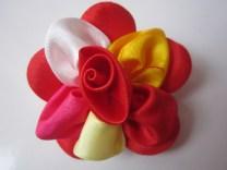Bros Grosir Kain Cantik Bunga Silvi-Merah