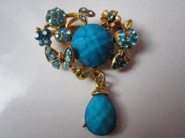Bros Grosir Cantik Bunga Batu Untai-Biru