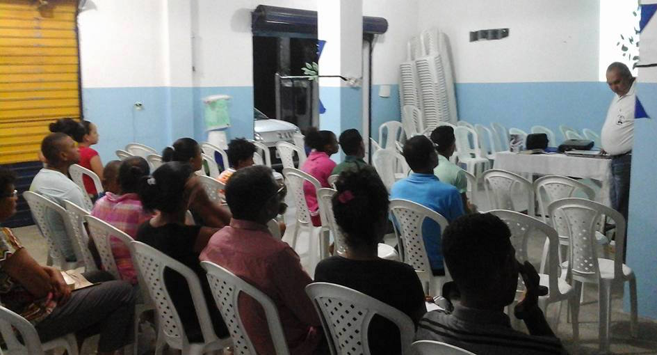 Evangelist Miro teaches members of denomination with DVD course.