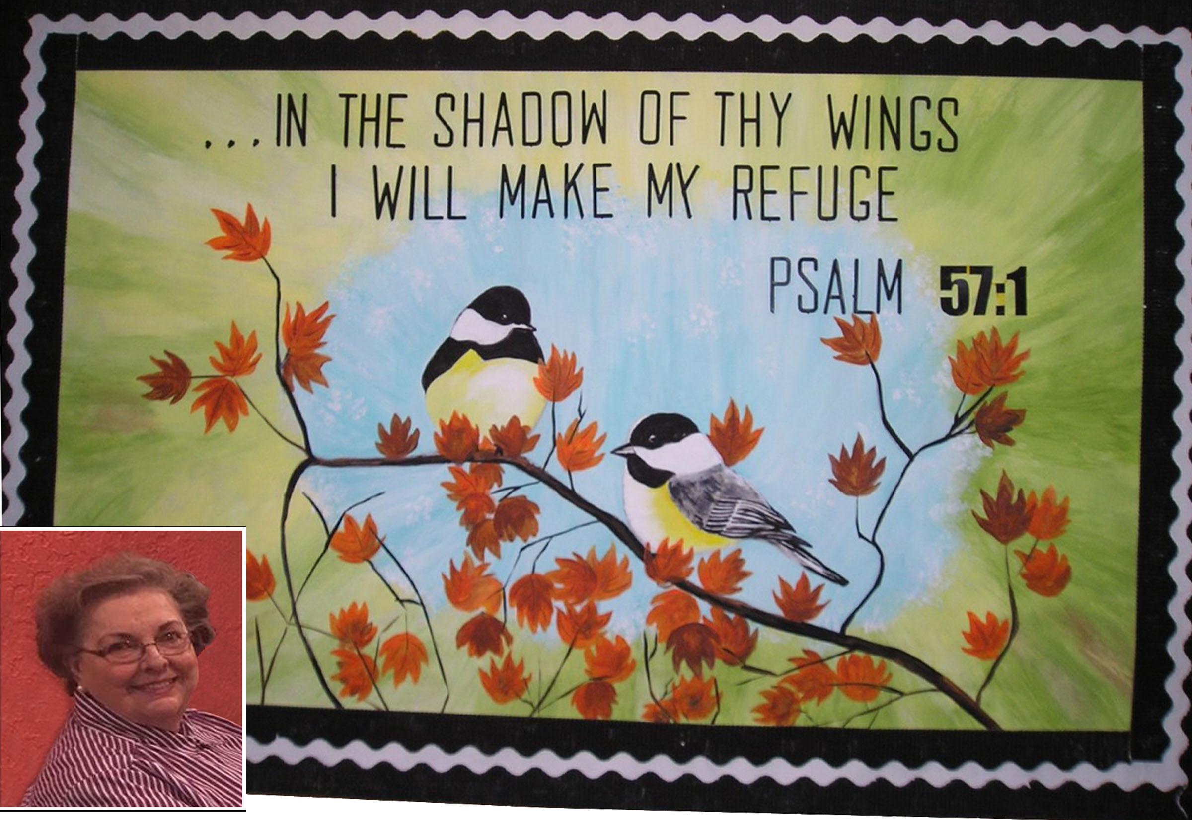 Artist paints church bulletin boards to teach