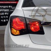 Задние светодиодные фонари для Chevrolet Cruze, стиль BMW Smoke — Red.