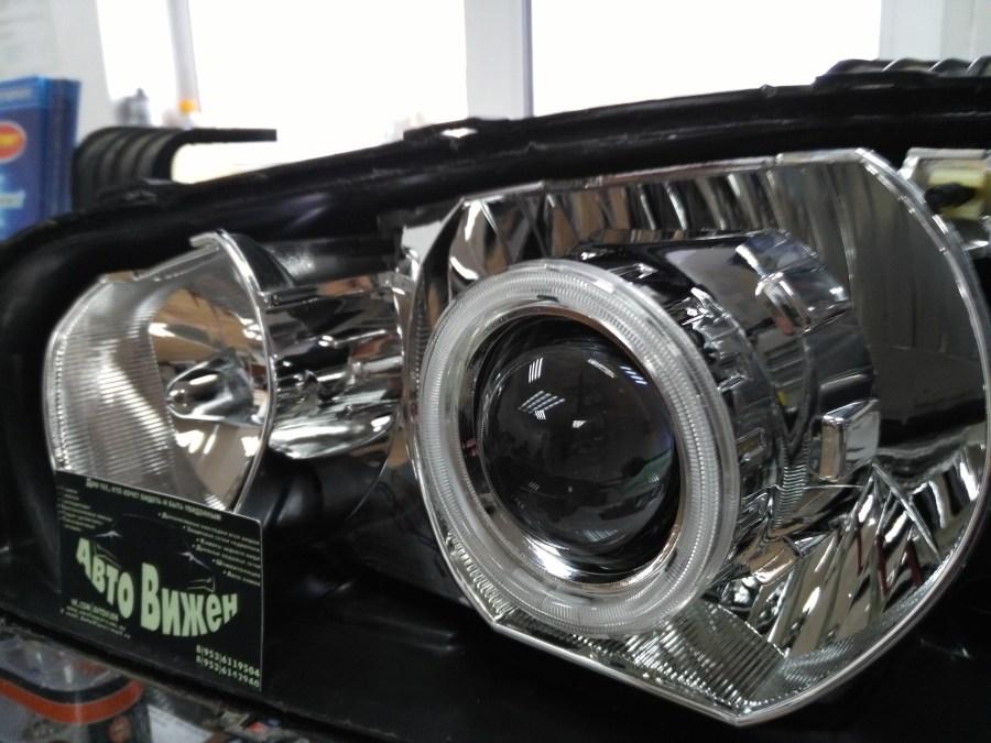 Hyundai Elantra установка би-линз