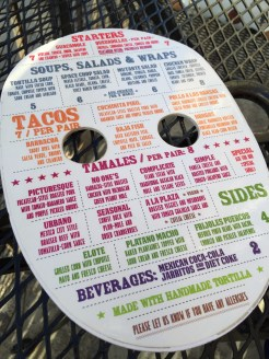 Tamale Station Menu Back