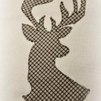 DIY. Текстильный постер с изображением оленя