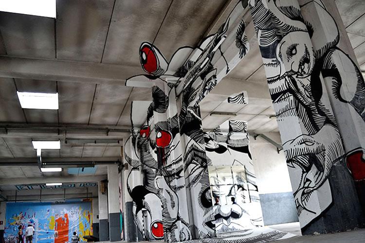 STREET ART - L'anamorphose de Médusa (4/5)