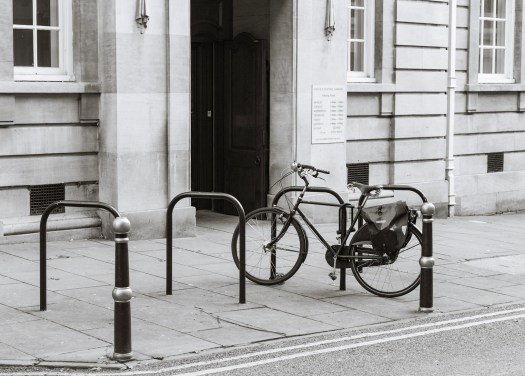 bicycle by the library
