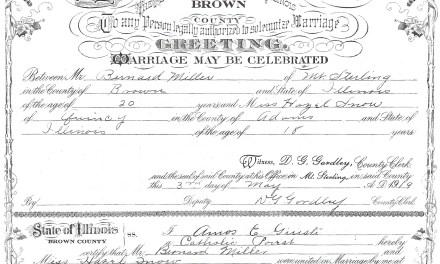 Marriage of Bernard Miller and Hazel Snow