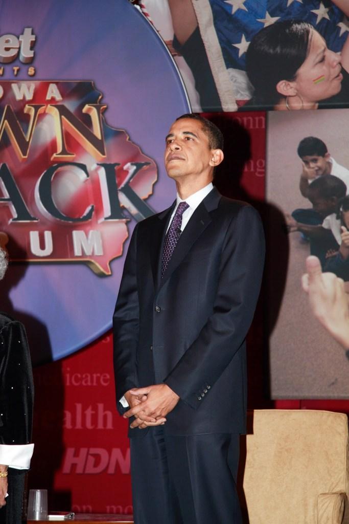 Barack Obama standing