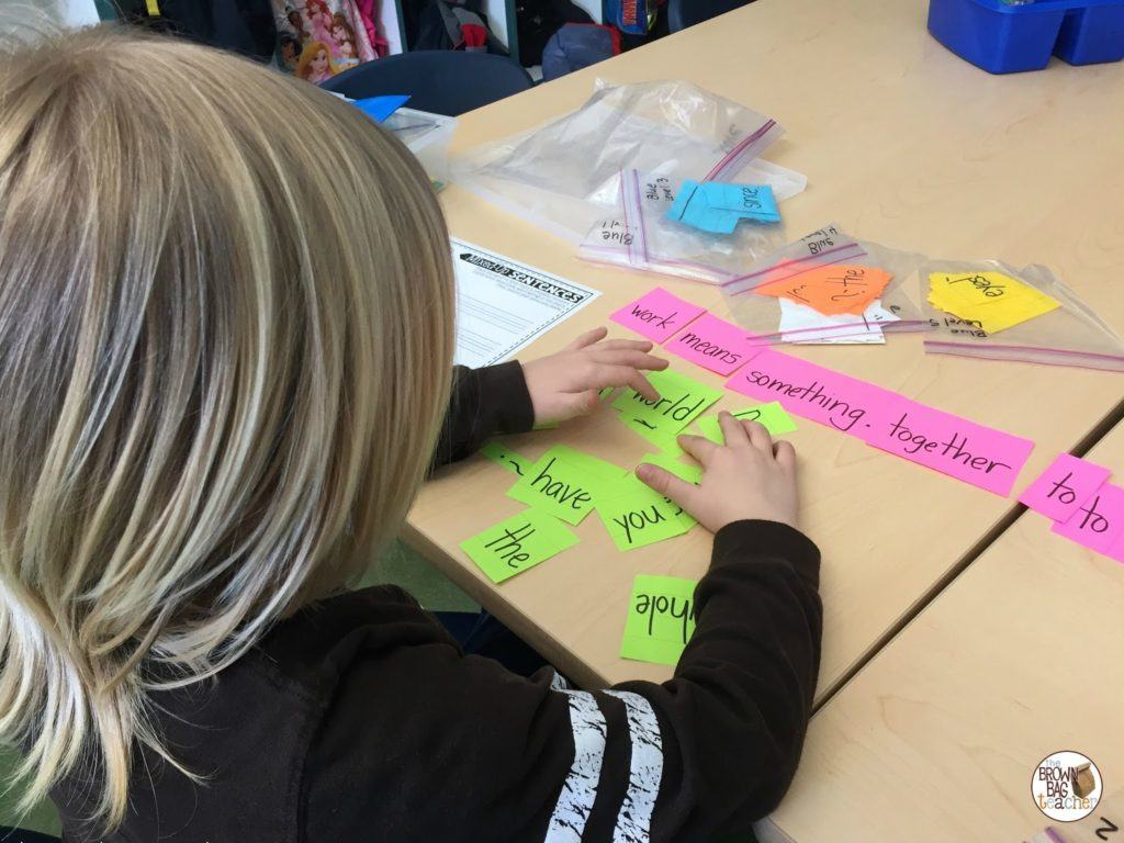 1st Grade Word Work Daily 5 Style
