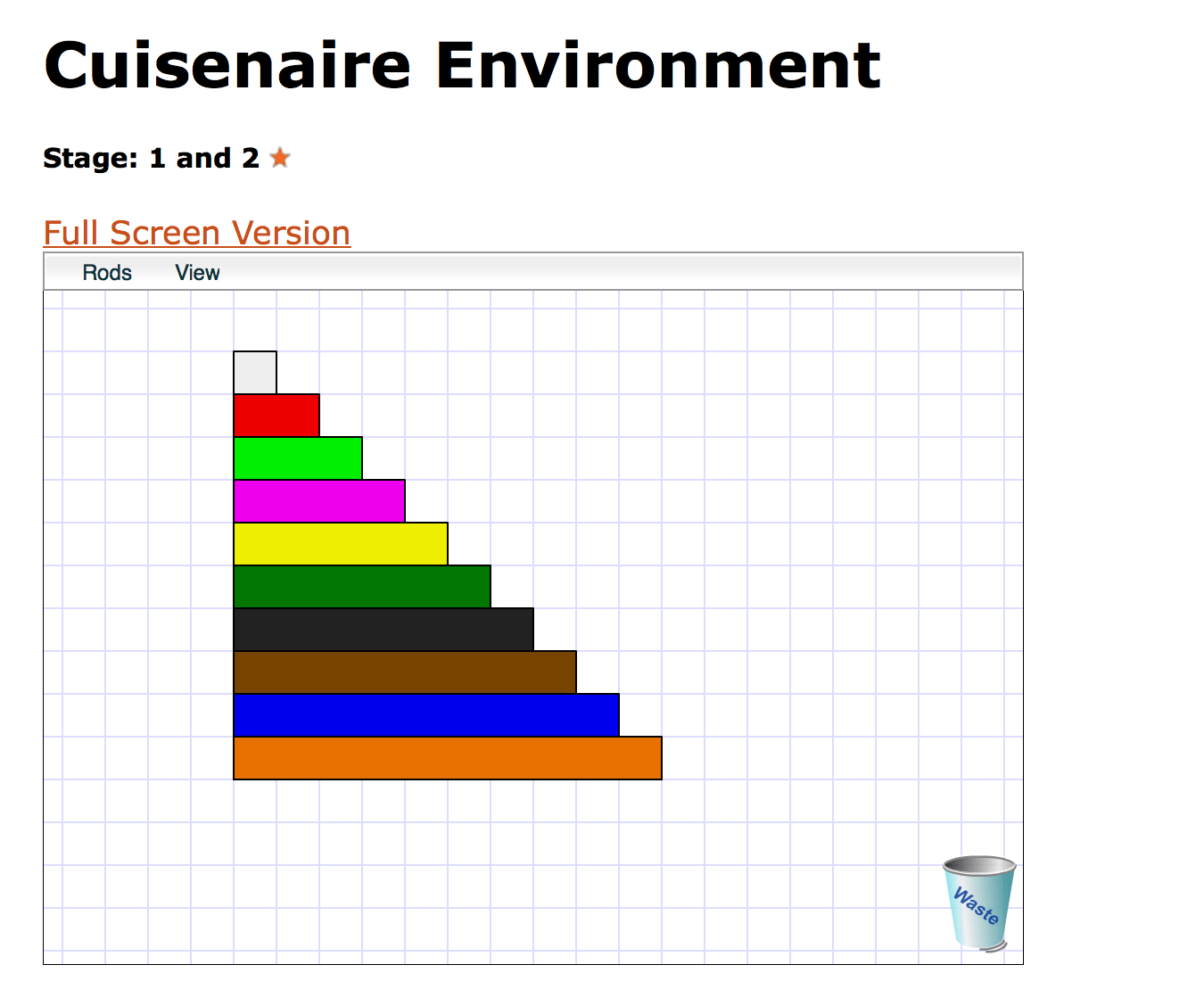 Using Cuisenaire Rods