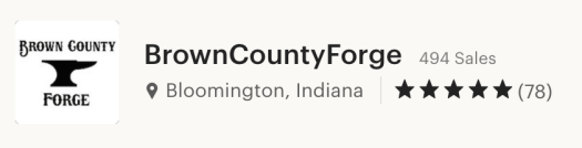 Five Star Rating - Brown County Forge - Indiana Blacksmith