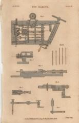 Pin Making, Plate 2, London Encyclopaedia, Vol. 17, 1829