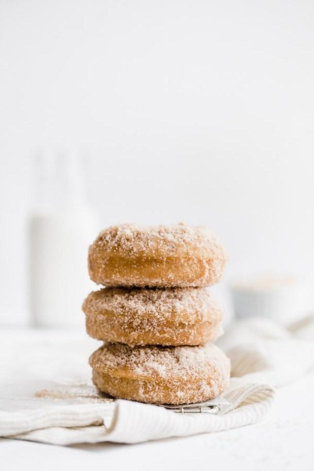 donuts, cinnamon sugar donuts, baked donuts, doughnuts, cinnamon donuts,