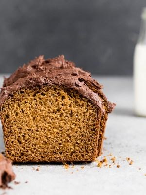 pumpkin-bread-chocolate-buttercream