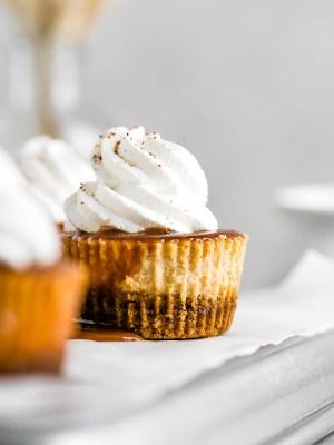 mini-salted-caramel-pumpkin-cheesecakes