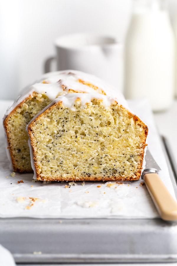 slices of lemon poppy seed cake