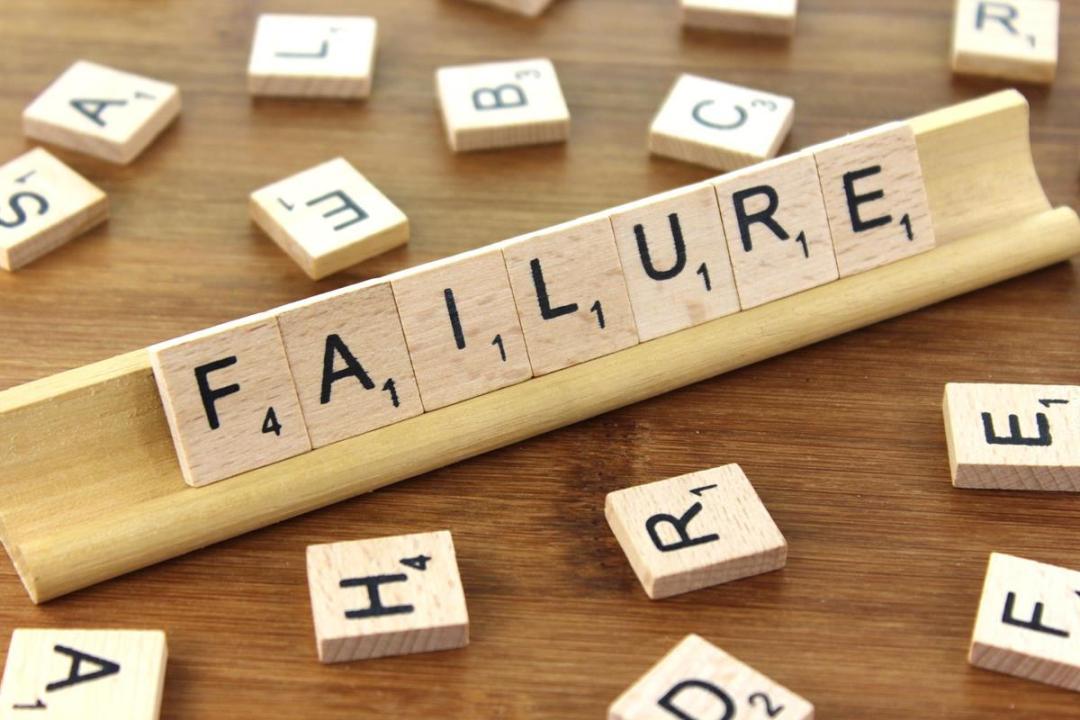Failure written on scrabble tiles