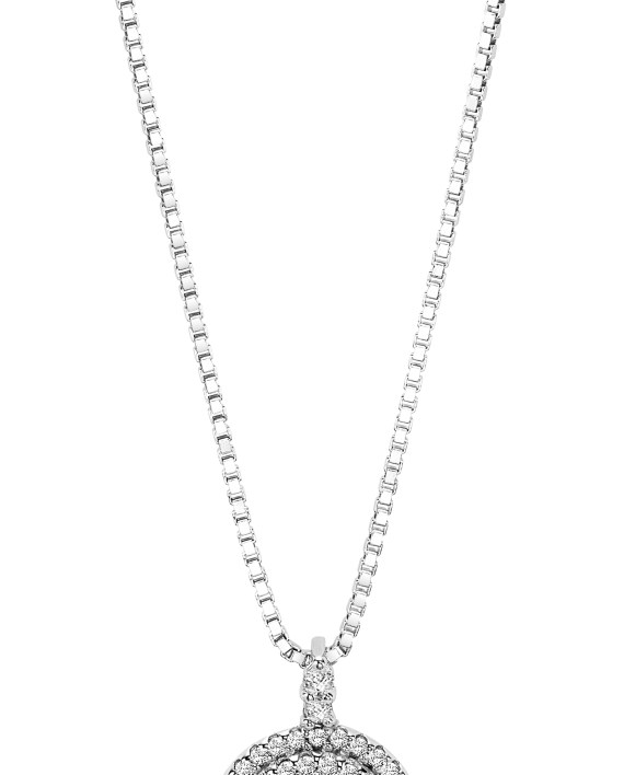 14K White Gold Diamond Rhythm of Love Pendant 3/8 ctw-0