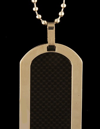 Titanium and Carbon Fiber Dogtag-0