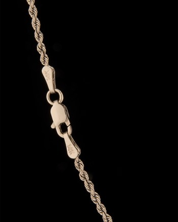 20 Inch Solid Rope Chain 14K White Gold -0