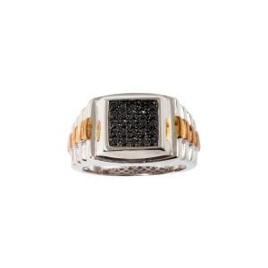 Men's Black Diamond 0.33ctw Ring in Sterling Silver