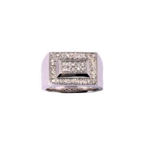 Men's Diamond (0.53ctw) Ring in 14K White Gold