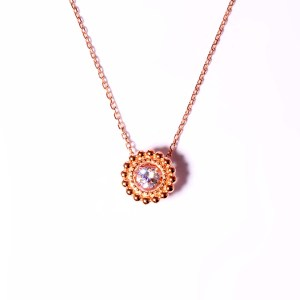 Rhythm Of Love Sterling Silver Rose Gold Plate With Cubic Zirconium