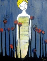 """""""Lily Rising"""", 11x14, $60.00 SOLD"""