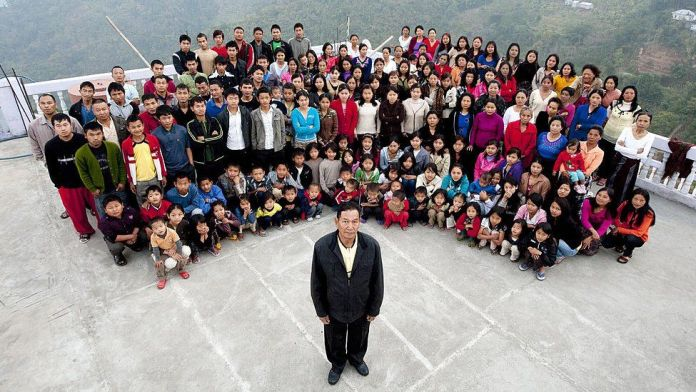 Head of world's largest family with 38 wives and 89 children dies aged 76