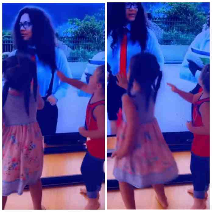 This is so cute! See how excited Nadia Buari's kids looked after they saw her on TV (Video)
