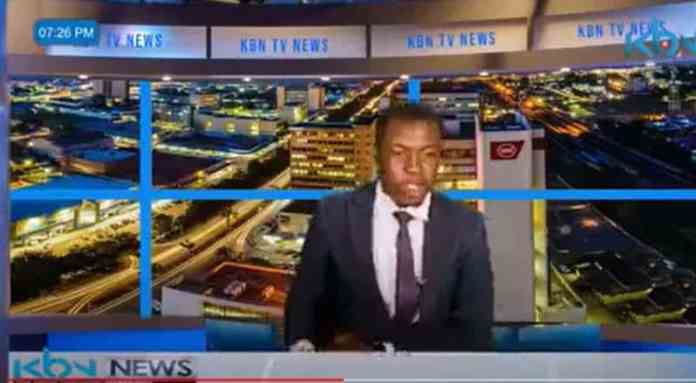 TV news presenter goes off script,demands for his salary and that of his colleagues during a live news report (Video)
