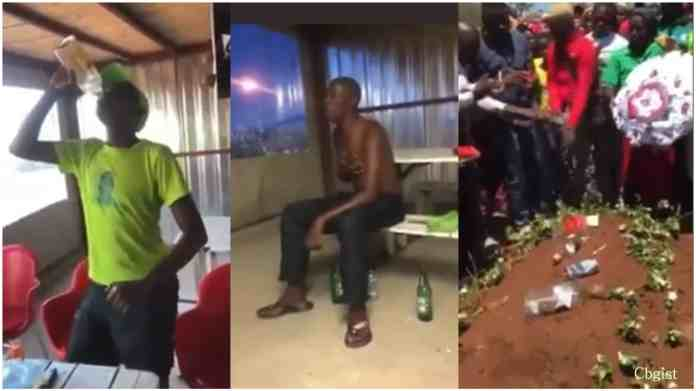 Man dies shortly after drinking a whole bottle of spirit for a bet