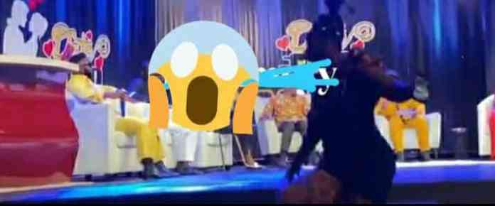 Date Rush Reunion: Ruth falls flat on stage after insulting a male participant (Video)