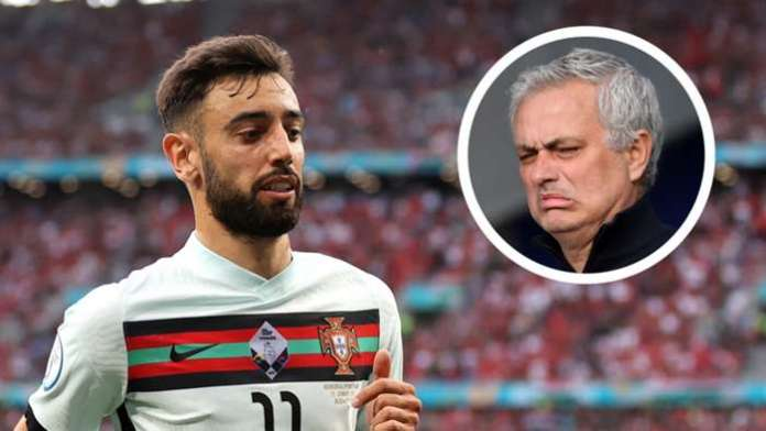 Bruno Fernandes has been anonymous for Portugal in Euro 2020 matches-Mourinho