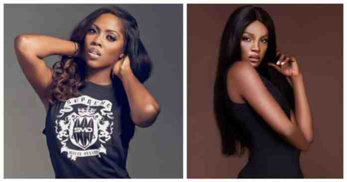 Tiwa Savage and Seyi Shay fight dirty as they meet in Salon (Video)