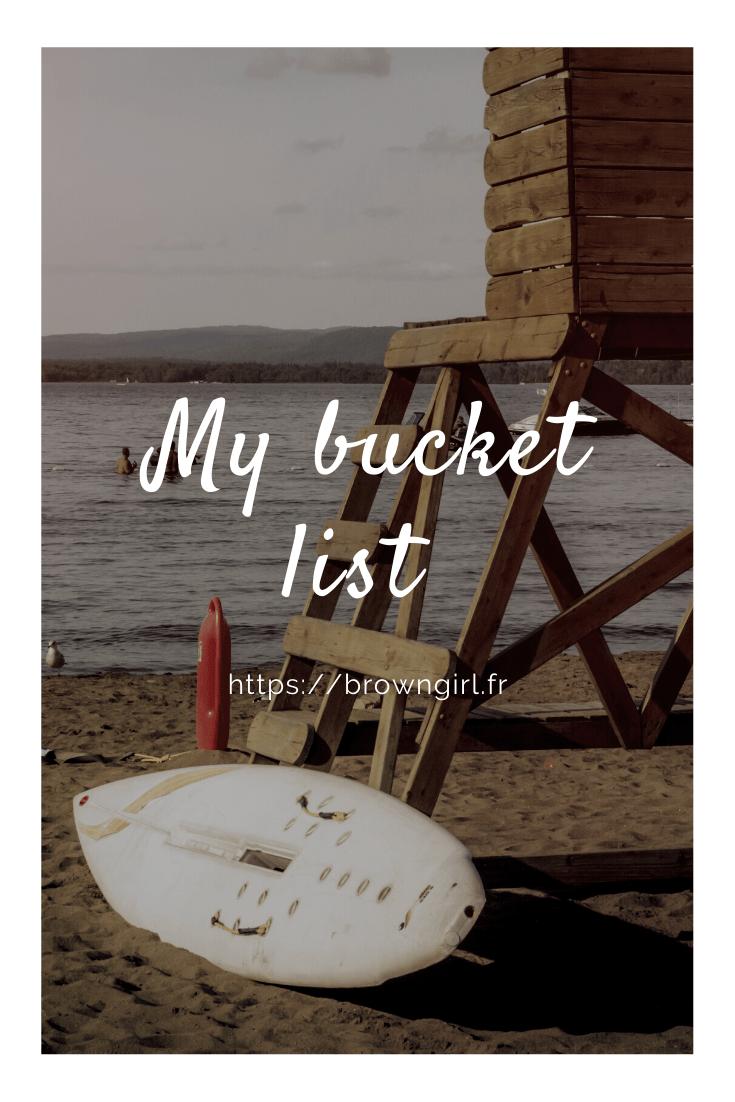 Bucket List : 2020