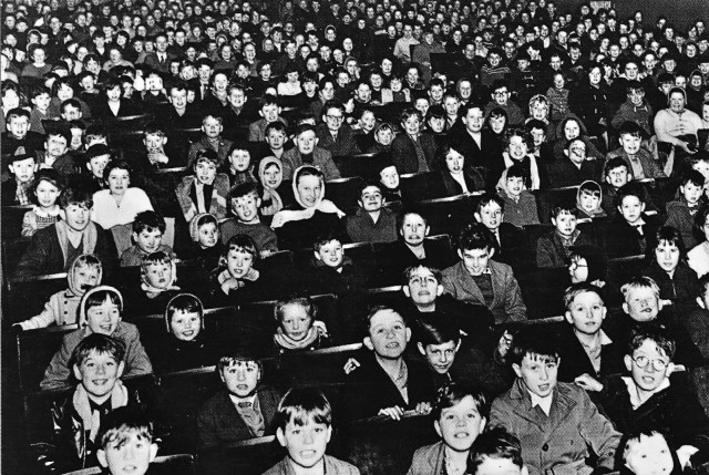 The audience at one of the last Saturday Matinee shows at the Regent Cinema, Brownhills, in 1962. Taken from 'Around Pelsall & Brownhills' by David F. Vodden.