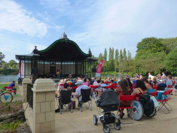 The refurbished Arboretum is looking reat - and the bandstand is a wonderful spot to catch live music, for folk of all ages.