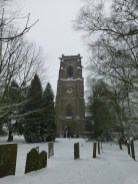 Shenstone Church looked much more handsome with a dusting of snow.