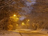 Coppilce Lane looked incredible in the snow and sodium light.