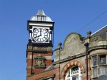 I've noted before that nothing speaks more eloquently of urban decay than a stopped clock. It was actually about 11am.