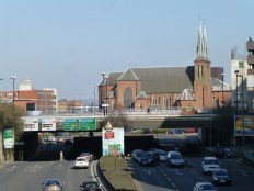 St. Chads, the Catholic Cathedral, is an elegant church, marooned by the inner ring road.