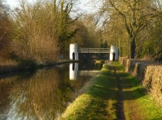 This silly, impractical and rather charming footbridge spans the Birmingham & Fazeley Canal near Drayton Manor Park.
