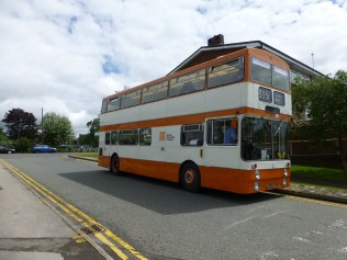 Dean and Kevin from Telford Bus Group did a fine job of providing bus tours on their preserved double decker.