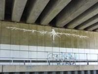 Artwork under motorway bridge at Polesworth
