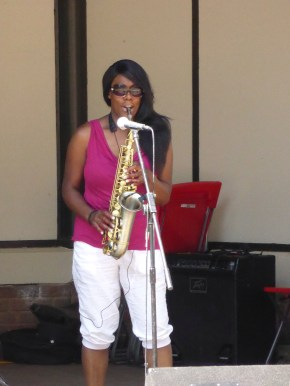 This is Samantha-Jayne, a Brownhills lady. Her sax was brilliant