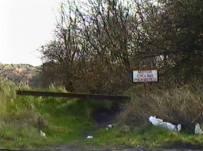 Old railway embankment next to Jasmine House