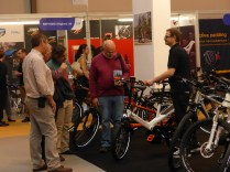 Exhibitors were glad to demo their products