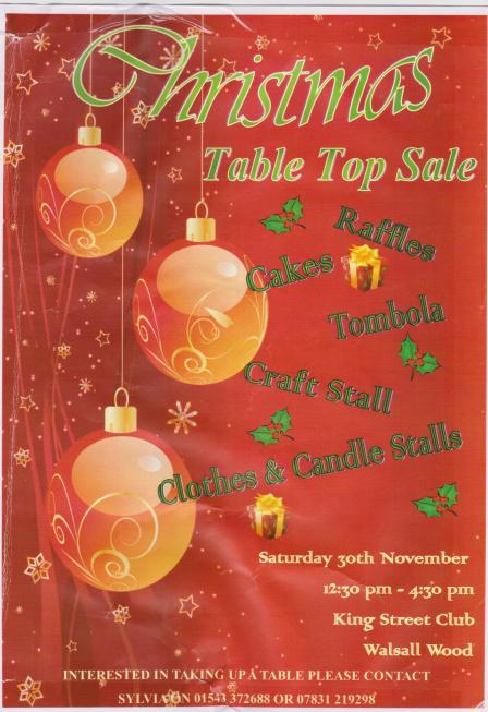 xmas table top sale